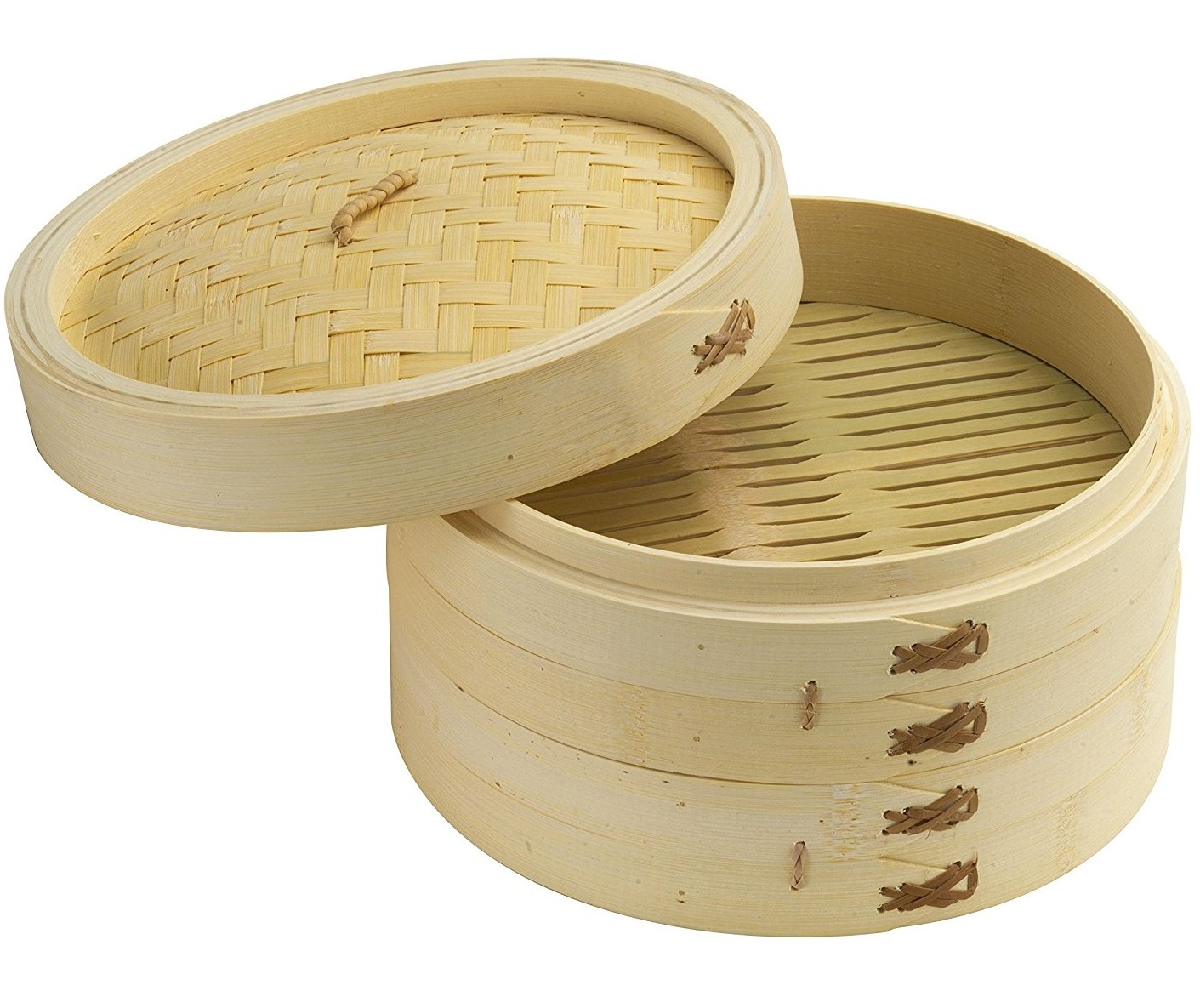 Joyce Chen 10 Inch Bamboo Steamer Set – Available in 2 Quantity Options