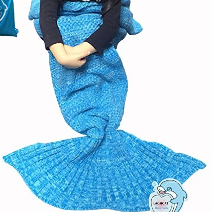 LAGHCAT Mermaid Tail Crotchet Blanket