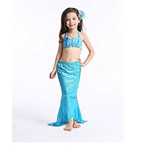 Newland Girl's 3 Pcs Kid's Mermaid Tail