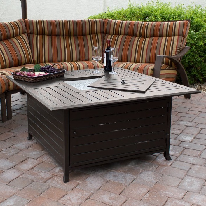 AZ-Patio-Heaters Aluminum Slatted Fire Pit