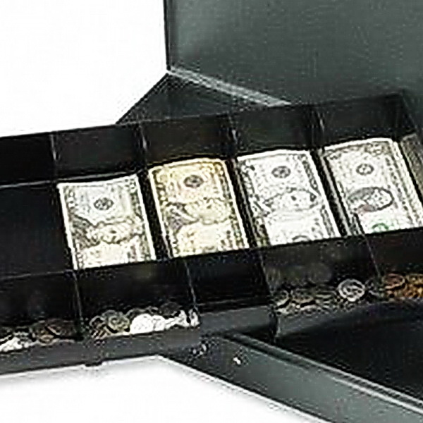 Sparco Steel Cash Box With Tray