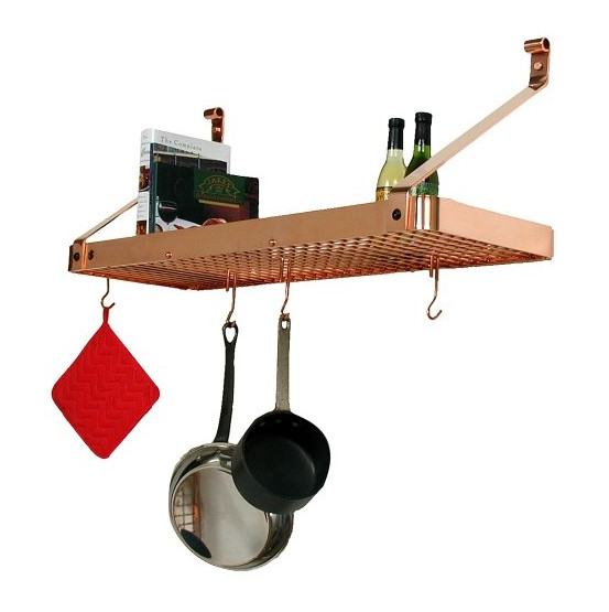 Enclume Bookshelf Wall Pot Rack