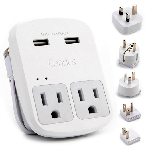 Ceptics World Travel Adapter Kit