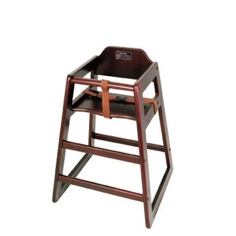 Winco Unassembled Wooden High Chair