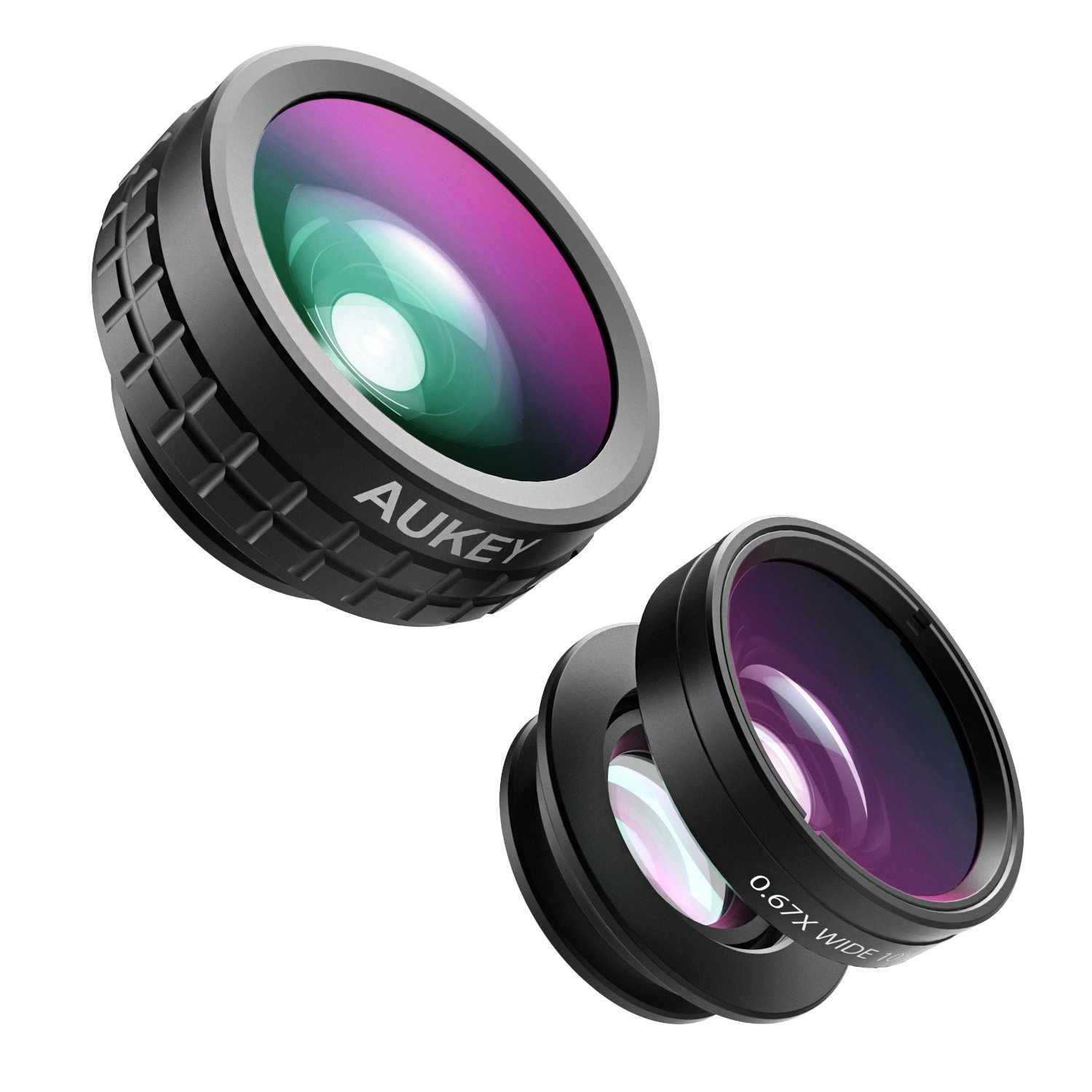AUKEY Optic iPhone Lens Kit for Samsung, Android Smartphones with 180° Fisheye Lens & 110° Wide Angle