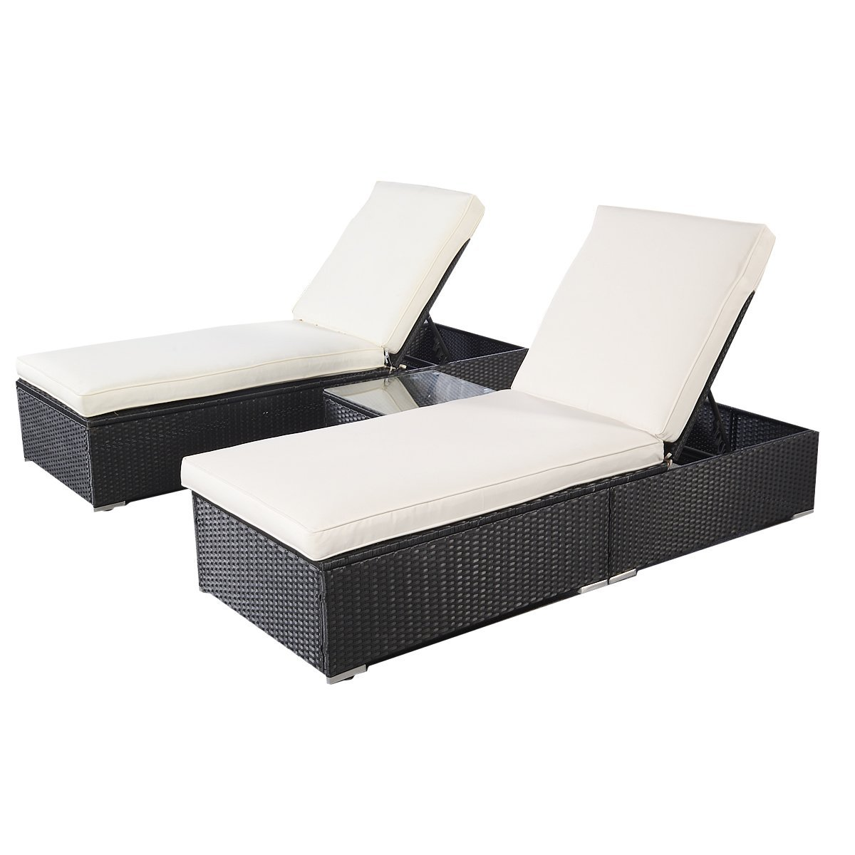 Tangkula 3-piece Chaise Lounge Chair