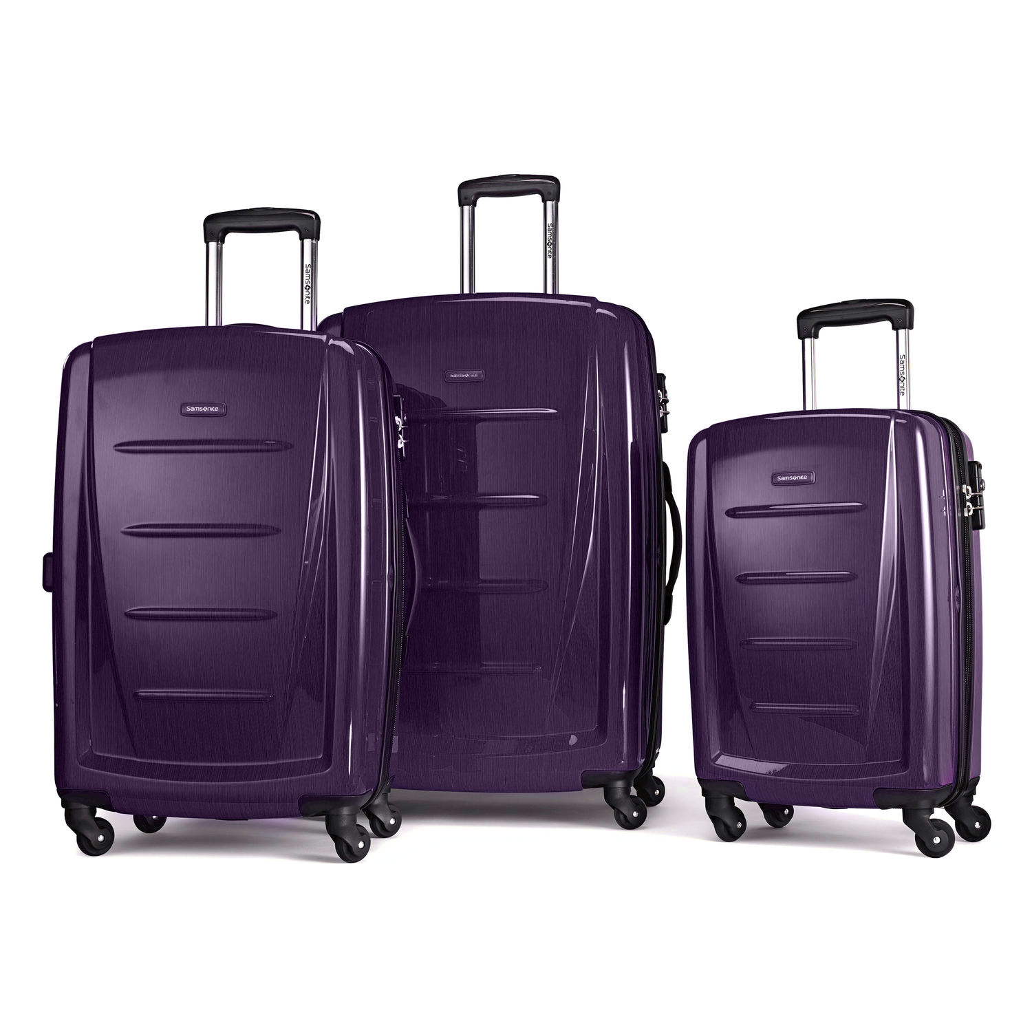 Samsonite Winfield 2 Fashion 3 Piece Spinner Set – Square, TSA Lock, Full-Zip Interior, 4 Colors
