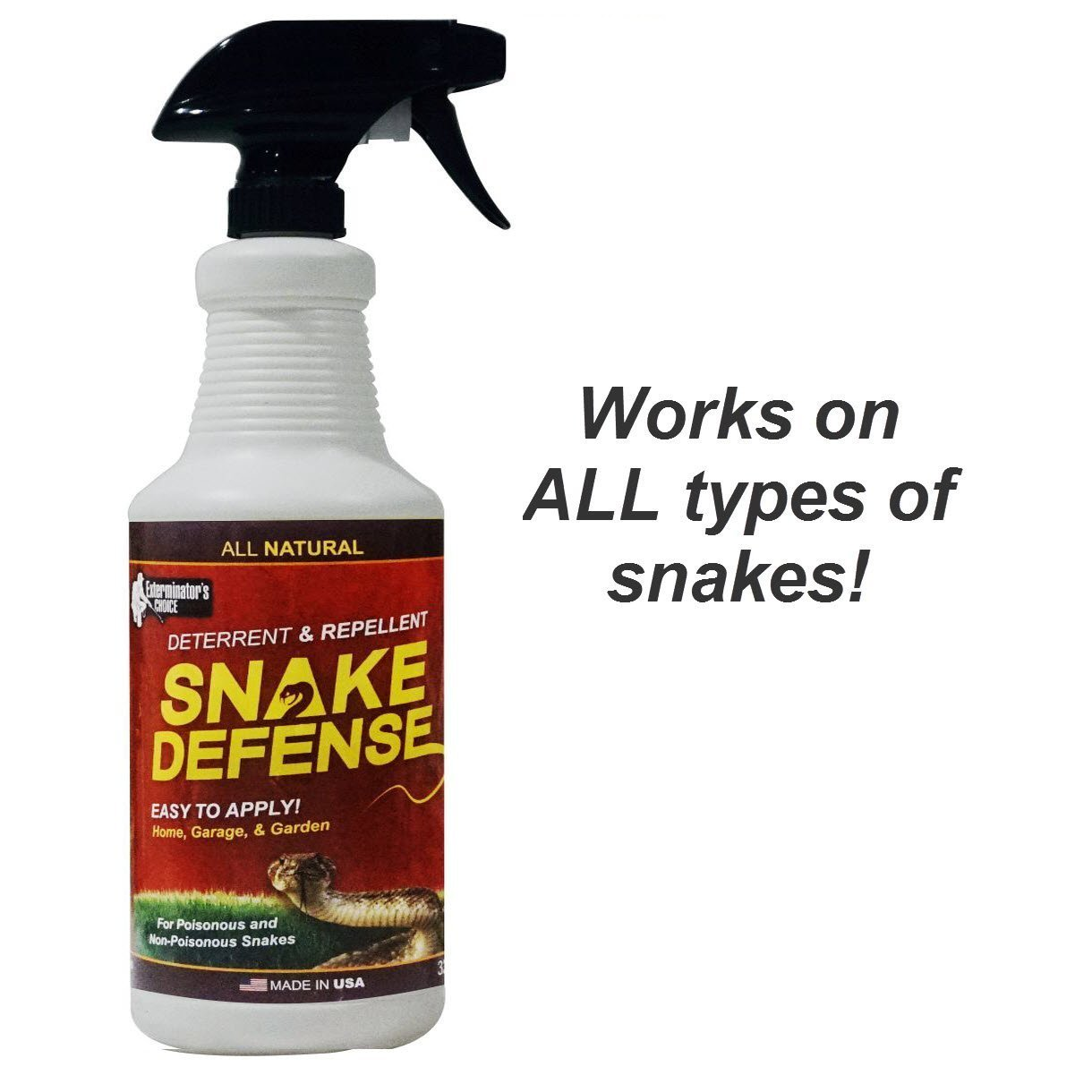 Exterminators Choice Snake Defense Natural Snake Repellent – Available in 2 Sizes