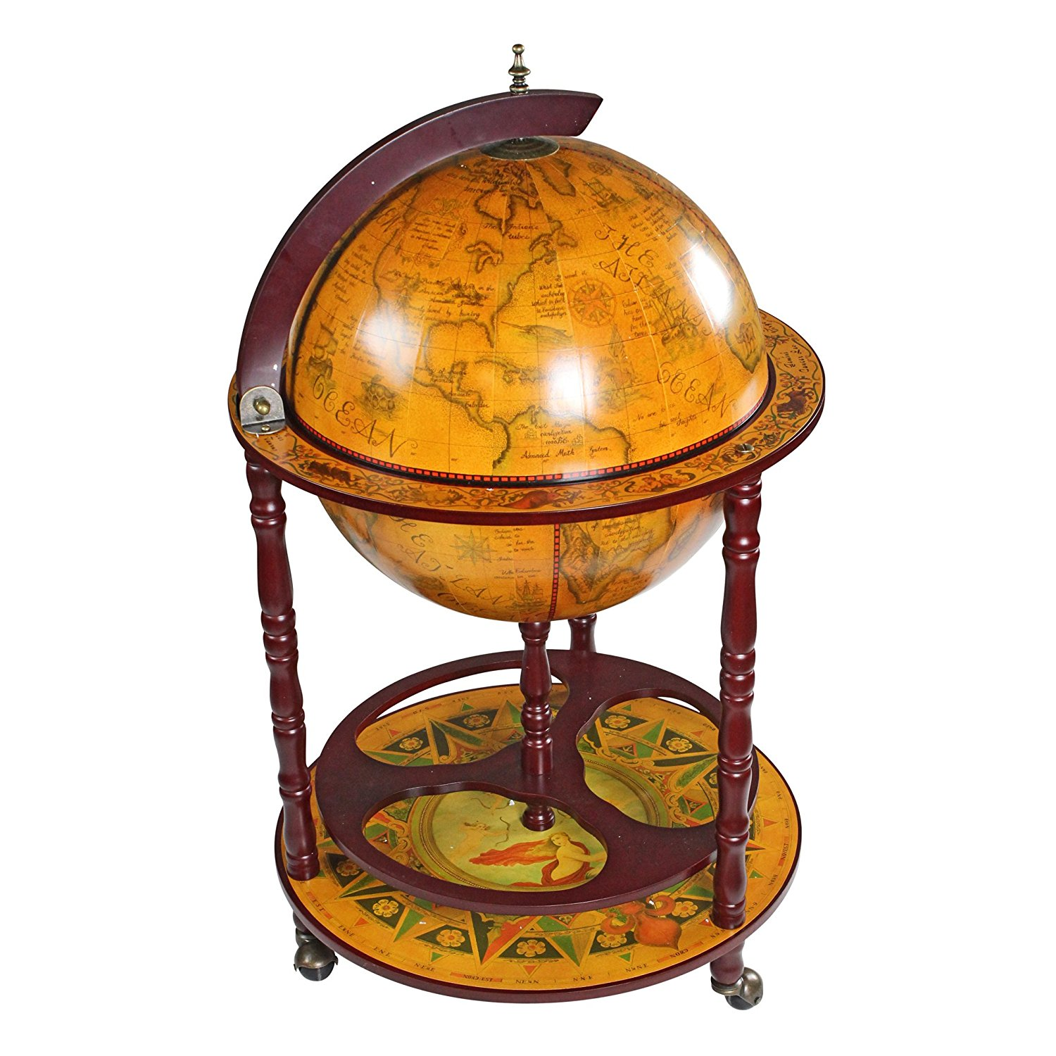 Design Toscano Stylish Sixteenth-Century Italian Replica Globe Bar