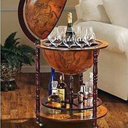 eHomeProducts Italian Replica Globe Wine Bar