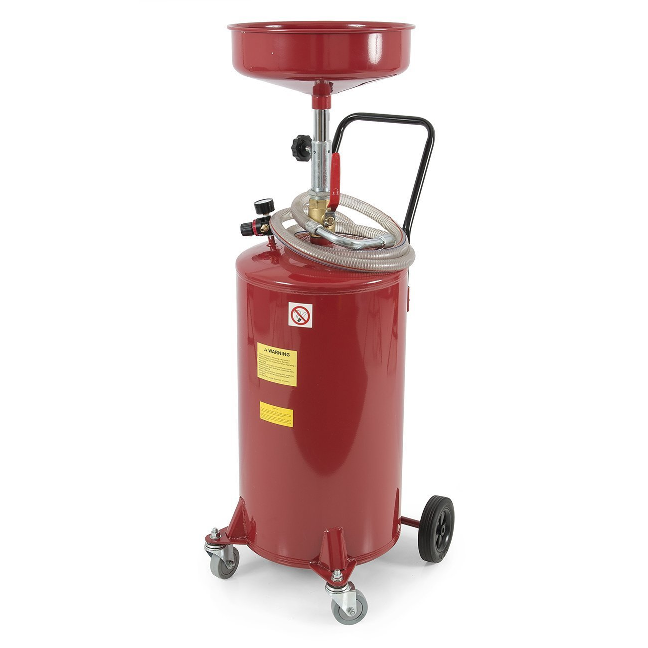 ARKSEN Red 20 Gallon Air Operated Portable Waste Oil Drain Tank