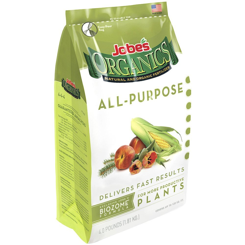 Jobe's Organics All Purpose 4-4-4 Organic Fast Acting Granular Fertilizer – Available in 3 Sizes
