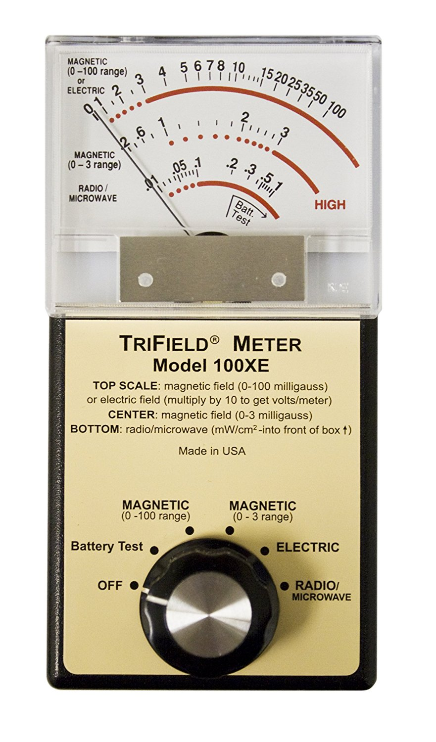 Trifield 100XE EMF Meter Detector with Low Battery Indicator