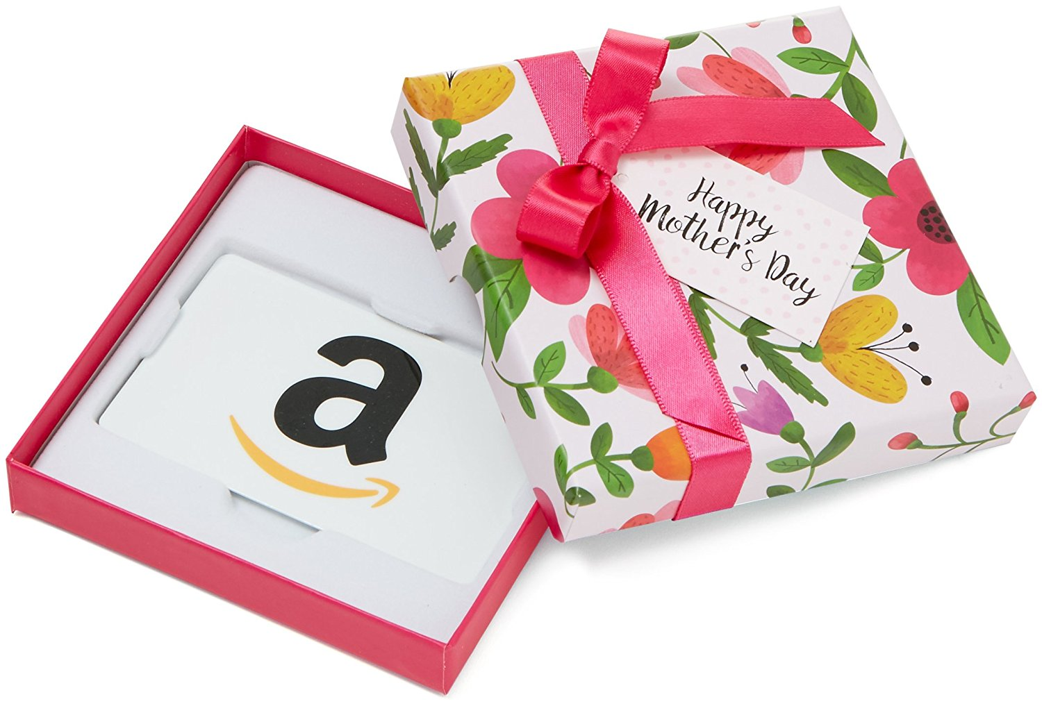 Amazon Gift Card in a Lovely Floral Gift Box – Perfect for Mother's Day, Available in Any Amount
