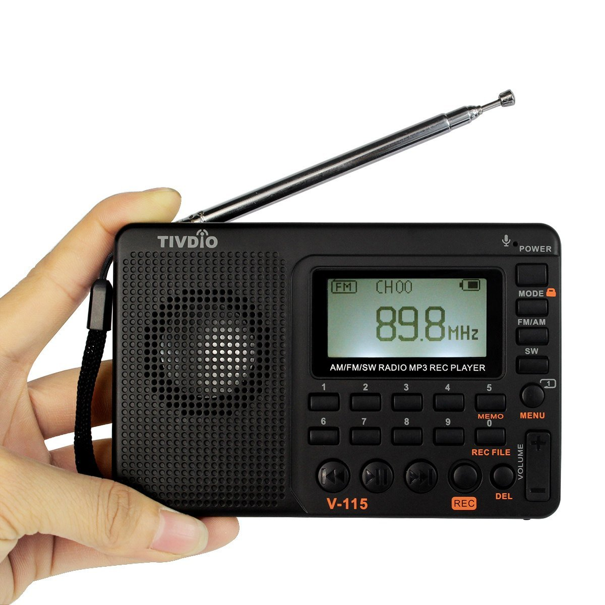 TIVDIO V-115 Portable AM FM Radio with Shortwave Radio Transistor