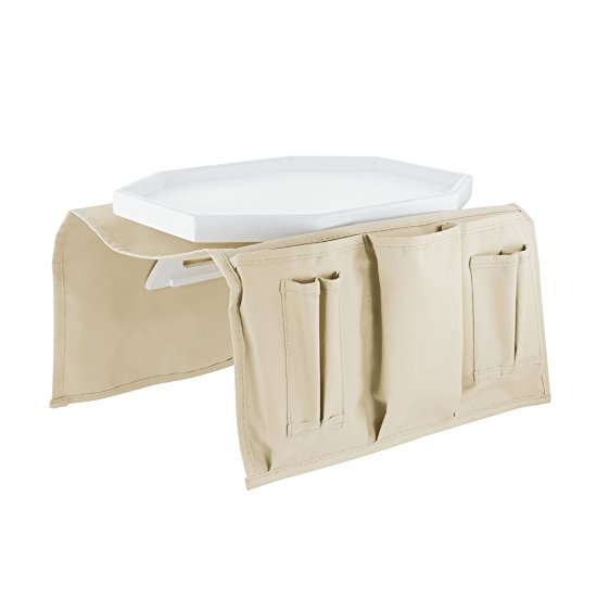 Kovot Wooden Clasp Couch Tray Table & Organizer