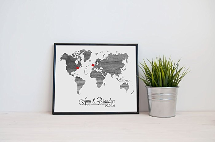 Embie Design World Personalized Map