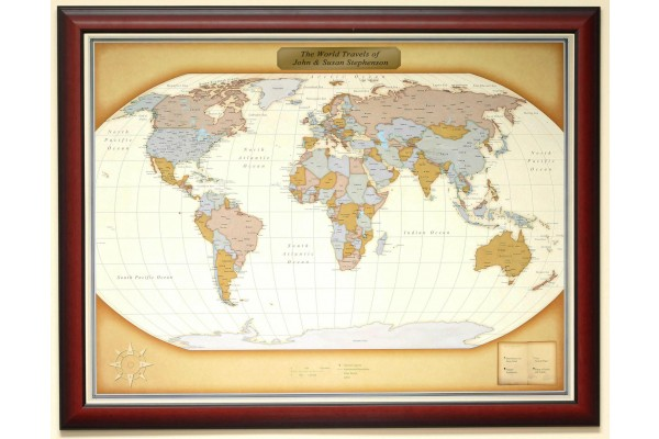 Luggage Pros World Personalized Map