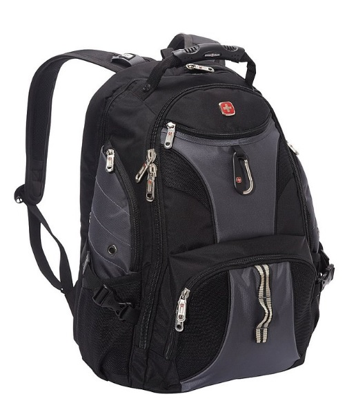 SwissGear ScanSmart Business Backpack w/ Water Bottle Pocket and Audio Interface