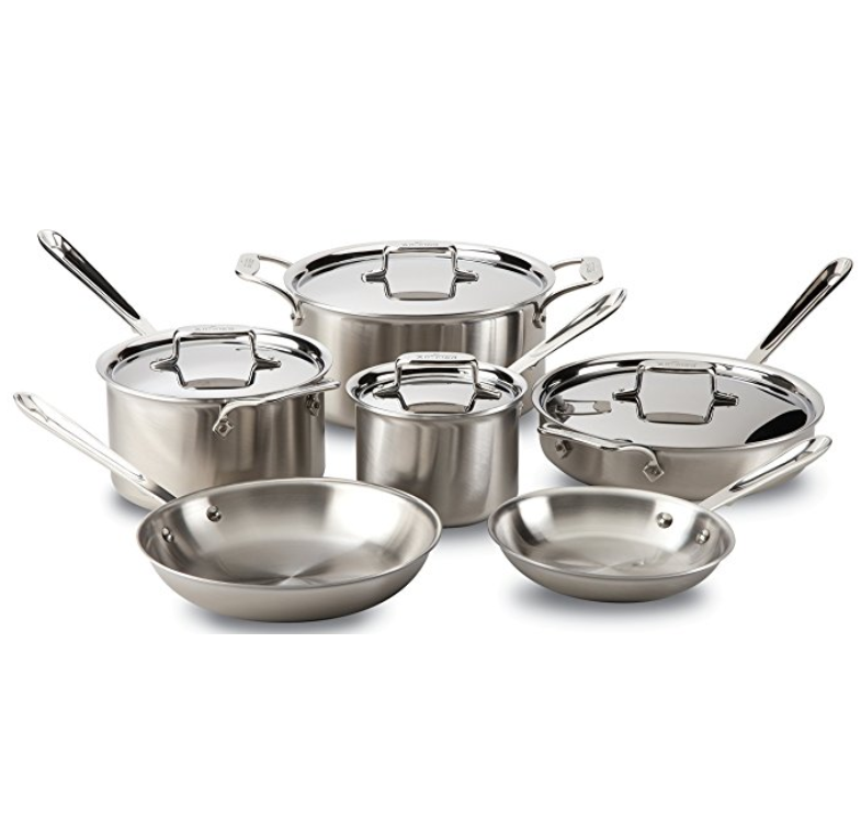 All-Clad Brushed Stainless 10-Piece Set