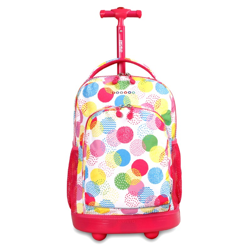 JWorld New York Sunny Rolling Backpack for Girls (and Boys)