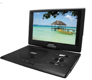 Sylvania Mobile DVD Video Player w/ Swivel Screen, USB/SD Card Reader and Built in Rechargeable Battery