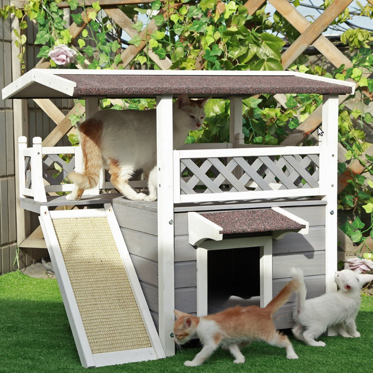 Petsfit Weatherproof Outdoor Cat Condo