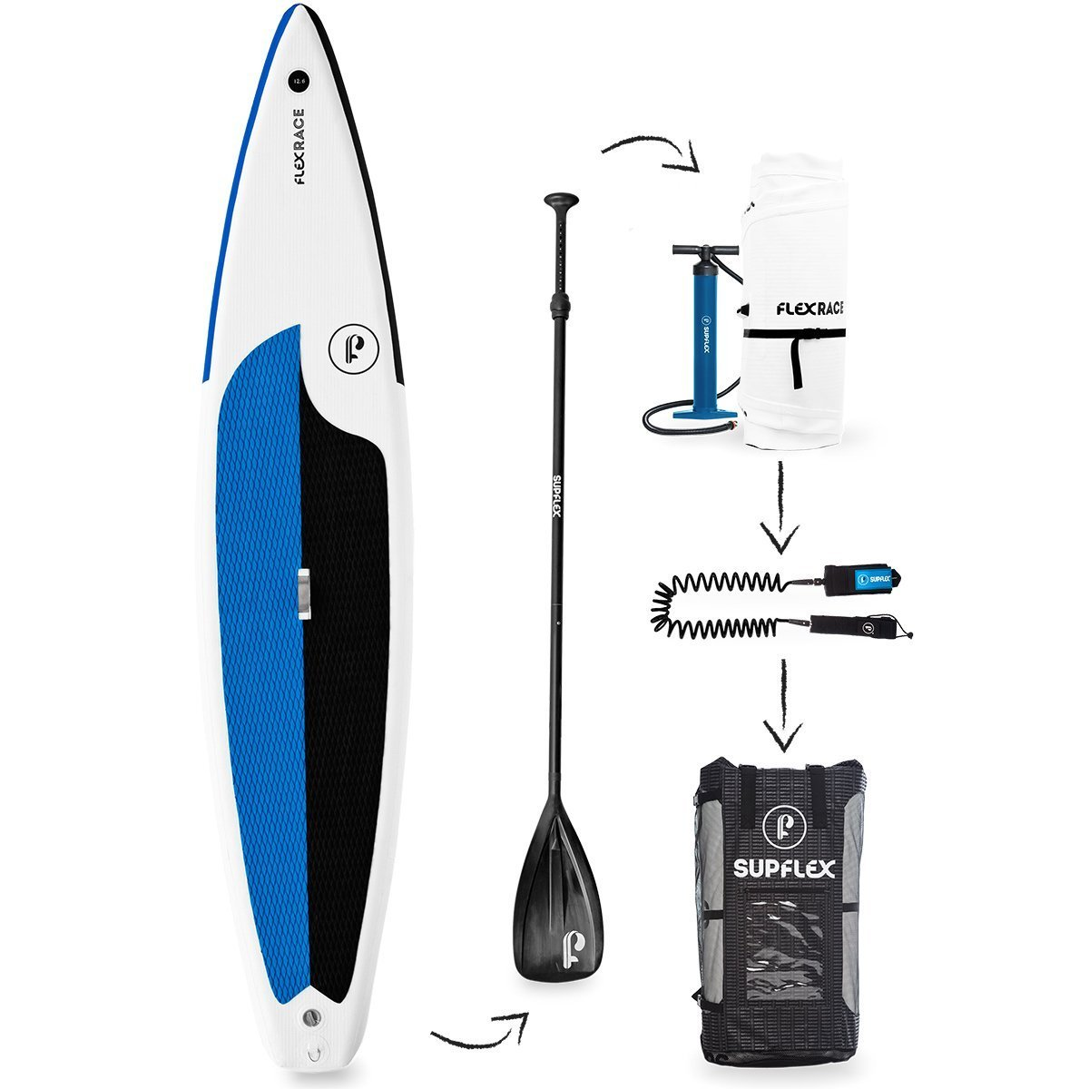 Supflex FLEXRACE Inflatable SUP Package