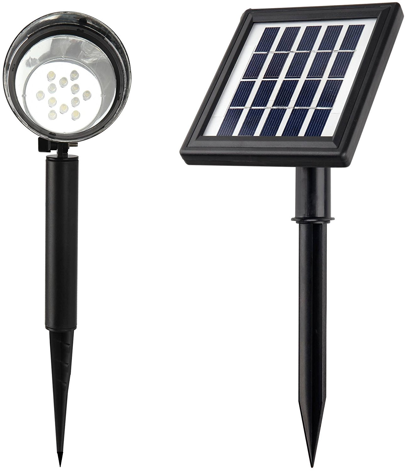 MicroSolar 12 LED Solar Spotlight