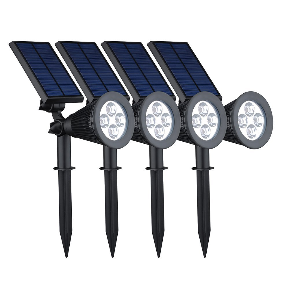 VicTsing 4 LED Solar Spotlights