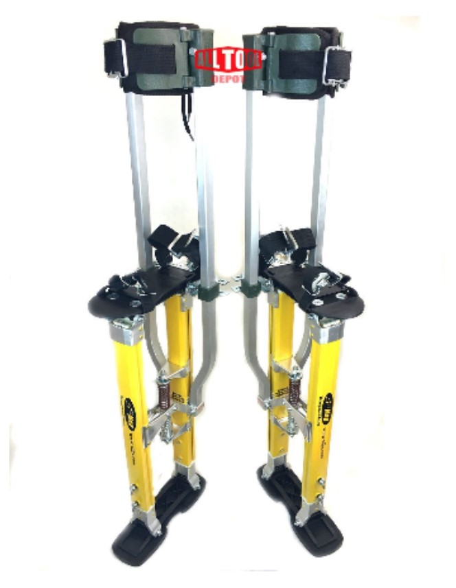 "SurPro Dual Legs Support Magnesium 24 - 40"" Drywall Stilts"