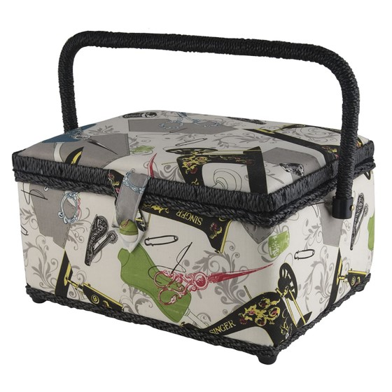 Singer Large Sewing Basket with Handle – Available in 4 Designs