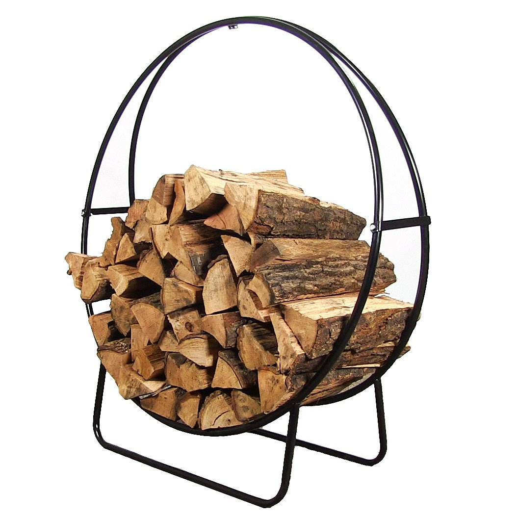 Sunnydaze Decor Steel Firewood Log Hoop