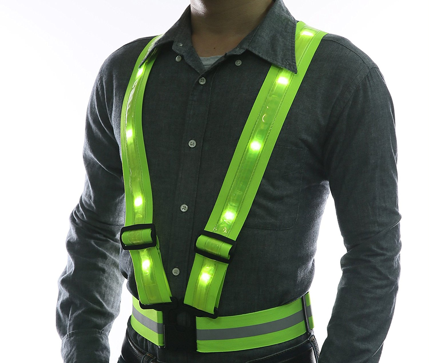 Glowseen Reflective Safety LED Vest