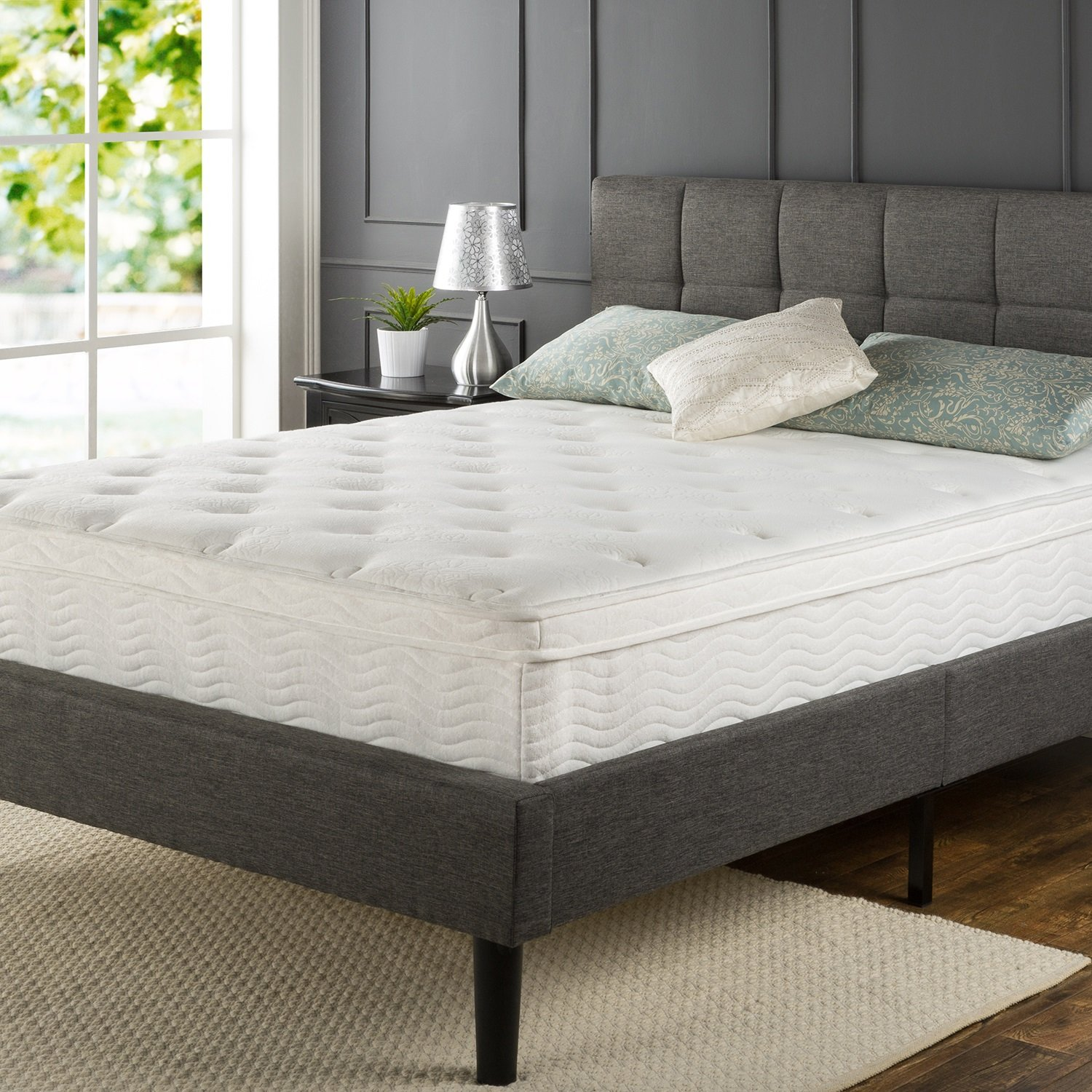 Zinus Pocketed Spring Euro Top iCoil Mattress