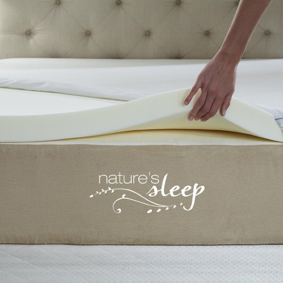 Nature's Sleep Visco Elastic Memory Foam Topper
