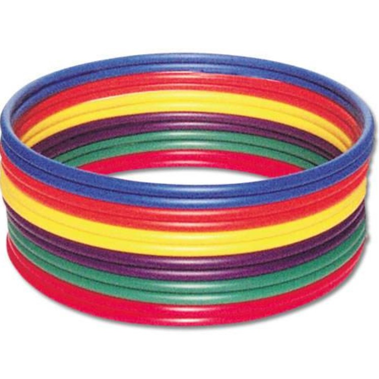 US Games Standard 30 Inch Hula Hoops 12 Pack