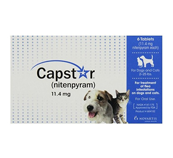 Capstar Nitenpyram Dog Flea Tablets