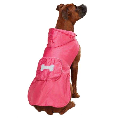 Casual Canine Fleece Lined Dog Raincoat