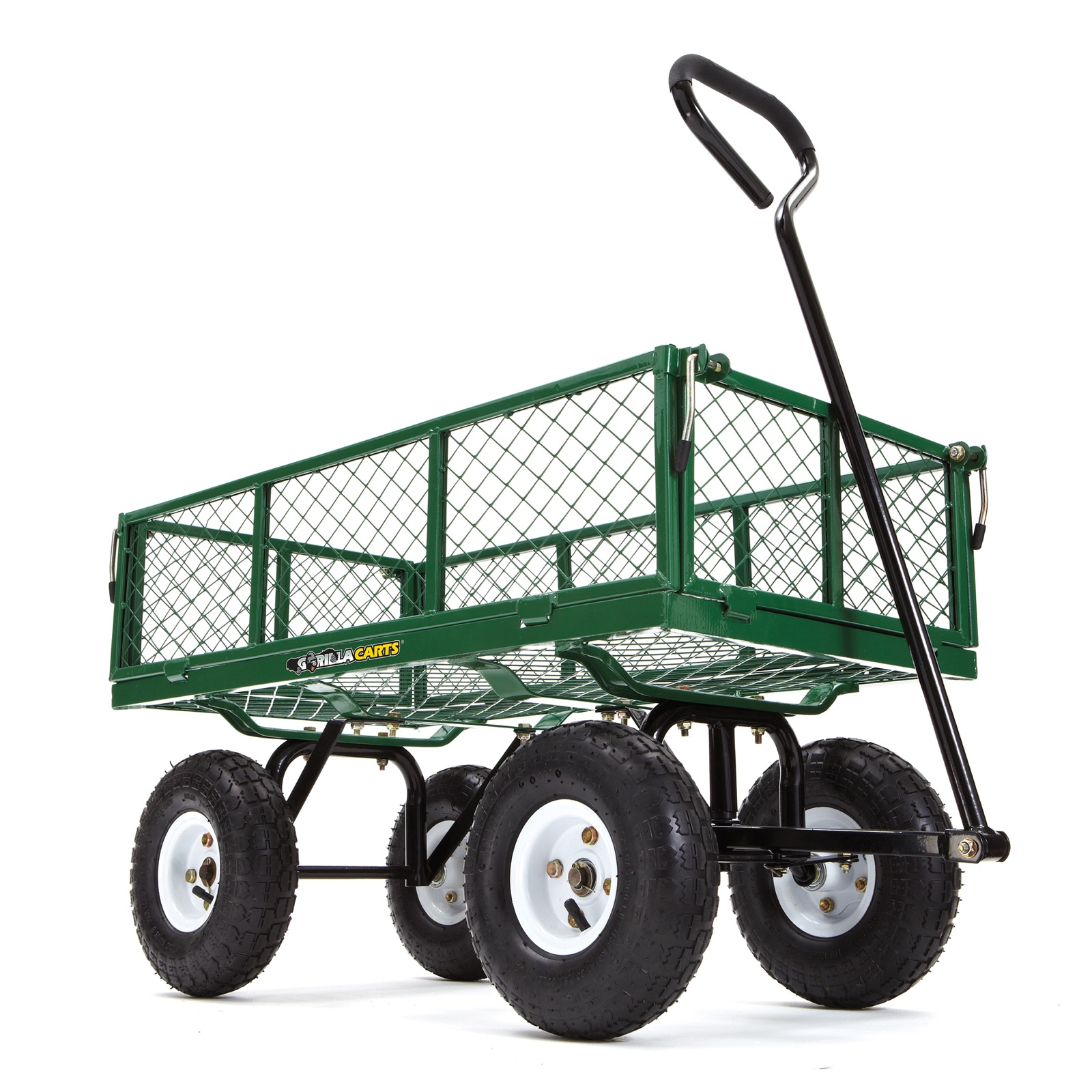 Gorilla Carts Lawn Cart Steel Garden Cart with Removable Sides & 400lbs Capacity