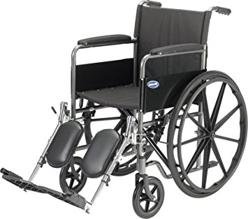 Invacare Veranda Manual Wheelchair with Padded Nylon Upholstery & Comfy Padded Arms
