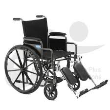 MedMobile Folding Wheelchair & Footrests