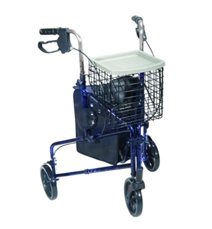 Drive Medical Aluminum Three Wheel Rollator