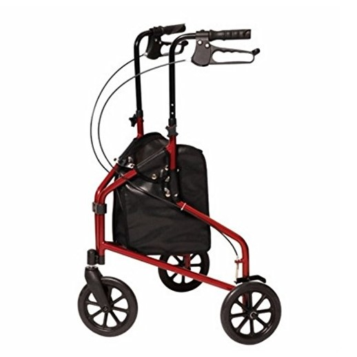 Lumex 3-Wheel Cruiser Aluminum Rollator/CS Metallic Burgundy