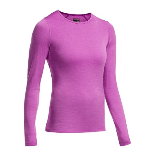 Icebreaker Women's Oasis Long Sleeve Crewe – Available in 5 Sizes & Multiple Colors