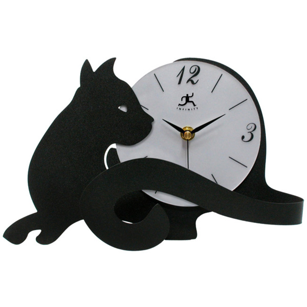 Infinity Instruments Cat Lovers Tabletop Clock
