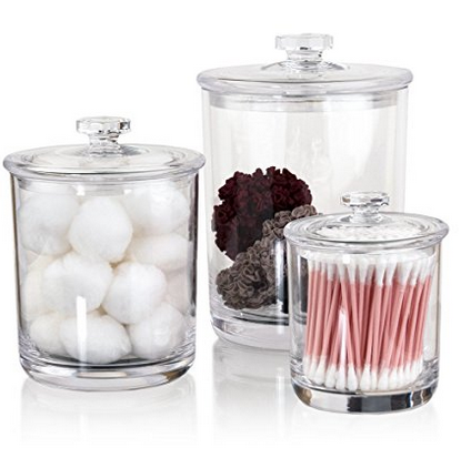 STORi Clear Plastic Apothecary Jars