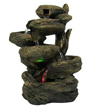 Sunnydaze Staggered Rock Tabletop Fountain