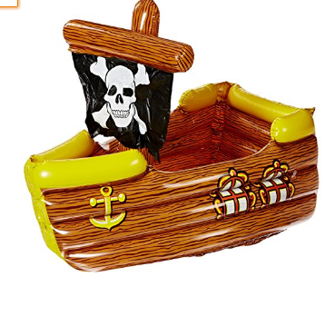 Beistle Inflatable Pirate Ship Cooler
