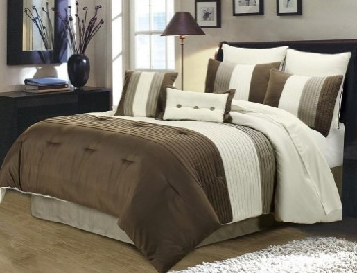 Chezmoi Collection 8-Piece Luxury Bed in a Bag Comforter Set — Available in Multiple Sizes & Colors